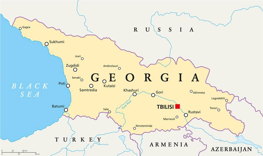 نقشه گرجستان برای سفر به گرجستان