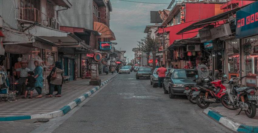 خیابان سپه از دیدنی های انزلی