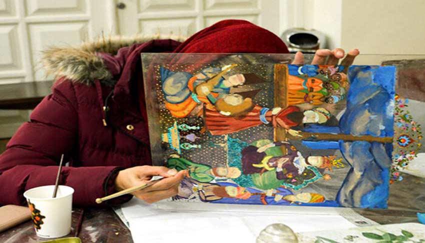 نقاشی پشت شیشه