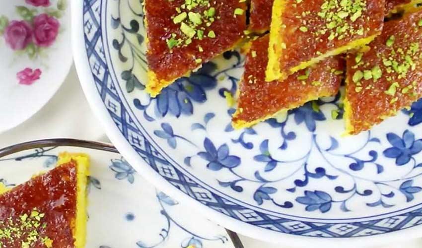 کیک شربتی قزوین