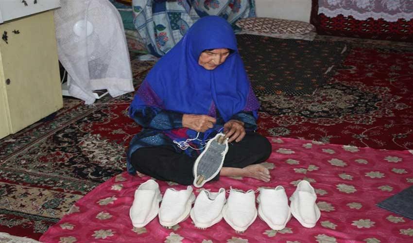 گیوه باقی از صنایع دستی قزوین