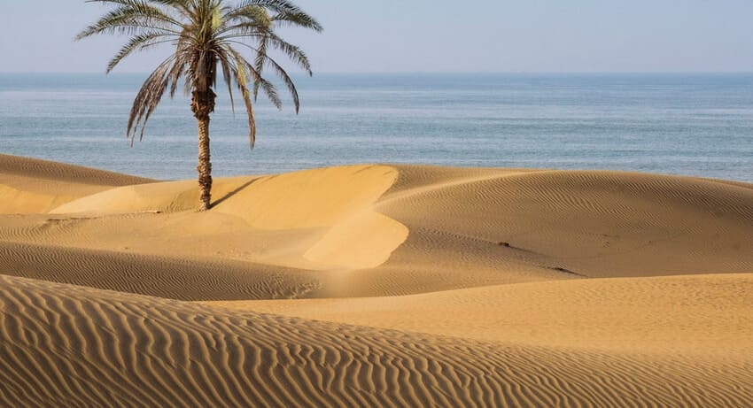 ساحل درک زیباترین ساحل ایران