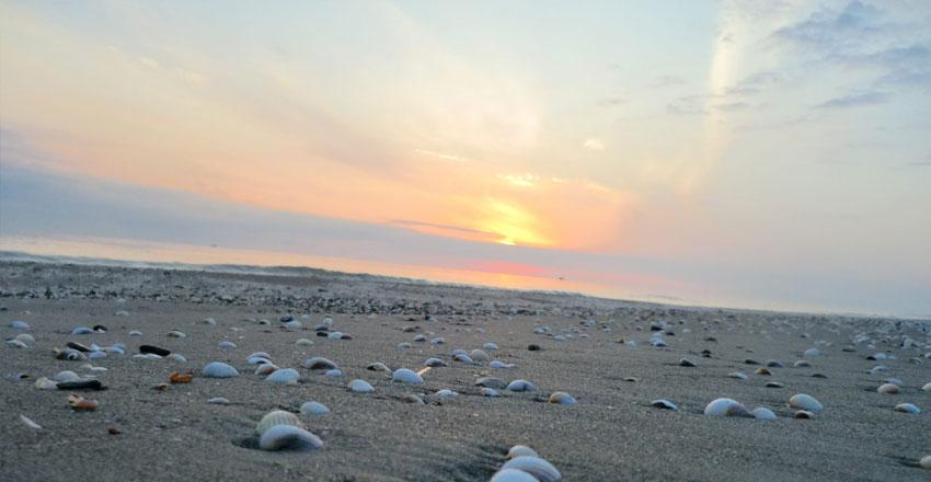 ساحل صدف از جاهای دیدنی آستارا
