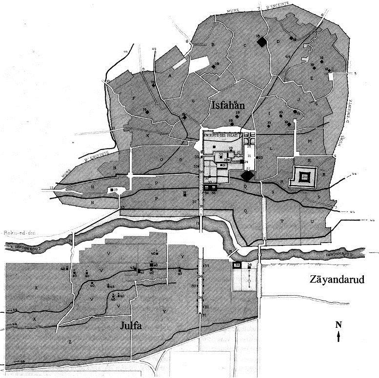 نقشه جلفای اصفهان