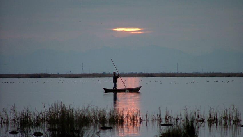 غروب آفتاب جزیره آشوراده