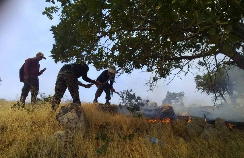 آتش سوزی در زاگرس