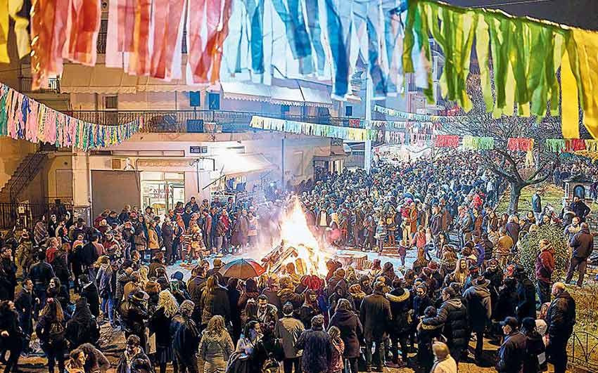 شهر کوزانی و رسم روشن کردن آتش یونان