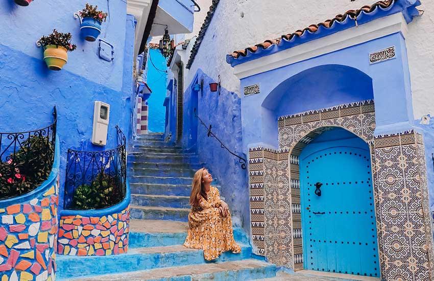 شفشاون، فیروزهای در مراکش