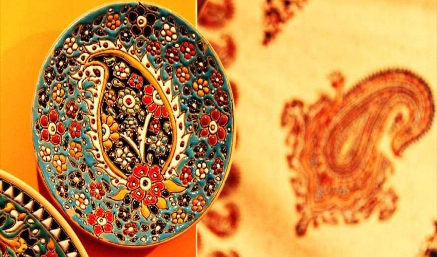 صنایع دستی - بشقاب اسلیمی