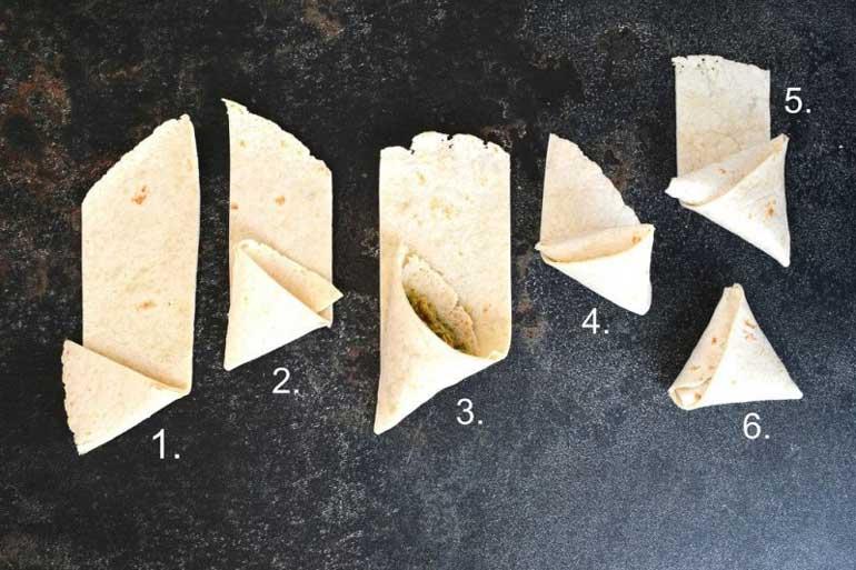 پیچیدن نان سمبوسه