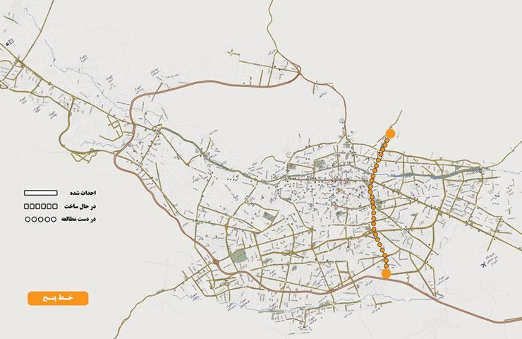 خط 5 متروی شیراز: کوشک میدان – سعدیه