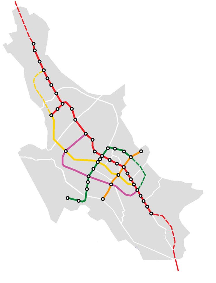 نقشه متروی شیراز