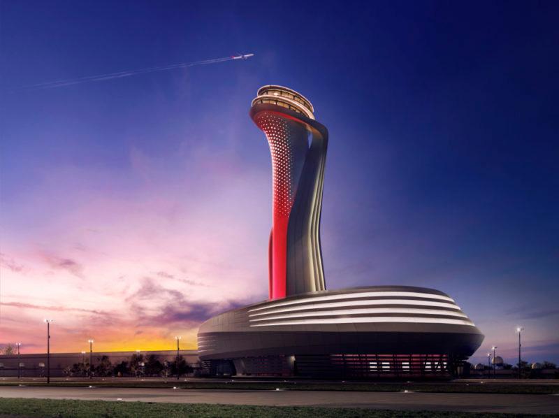 برج کنترل در فرودگاه جدید استانبول