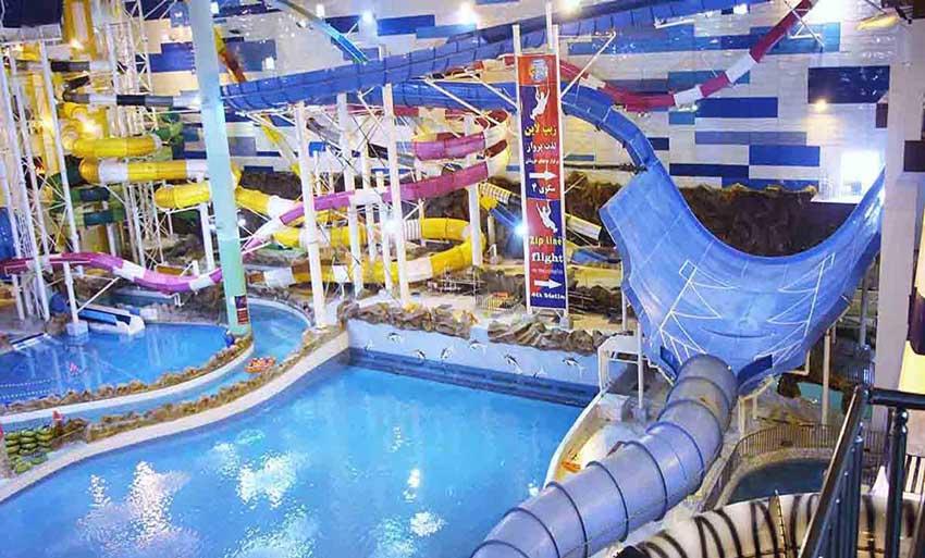 مراکز تفریحی مشهد سرزمین موج های آبی
