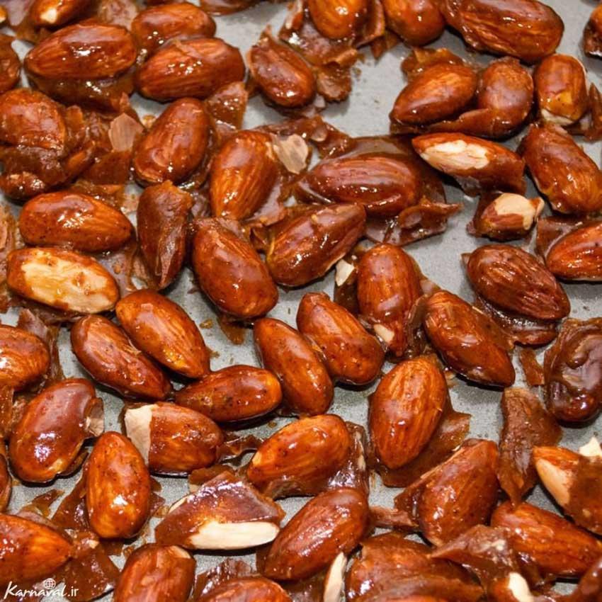 بادام سوخته سوغات شیراز