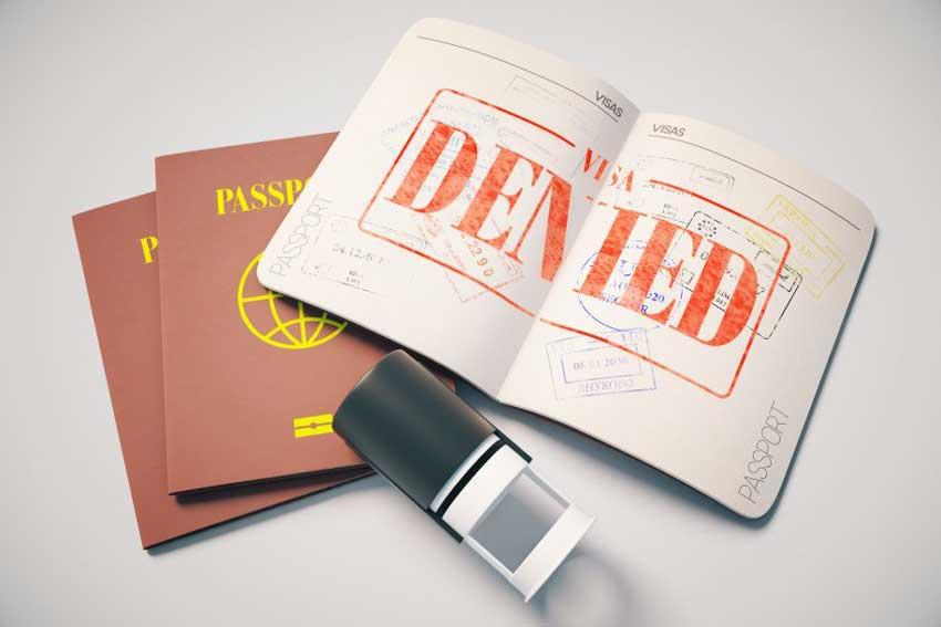 دلایل ریجکت شدن ویزای توریستی